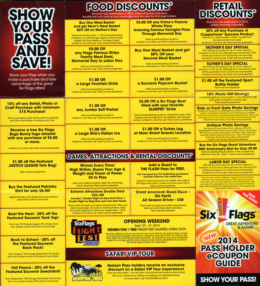 Six flags new england coupons