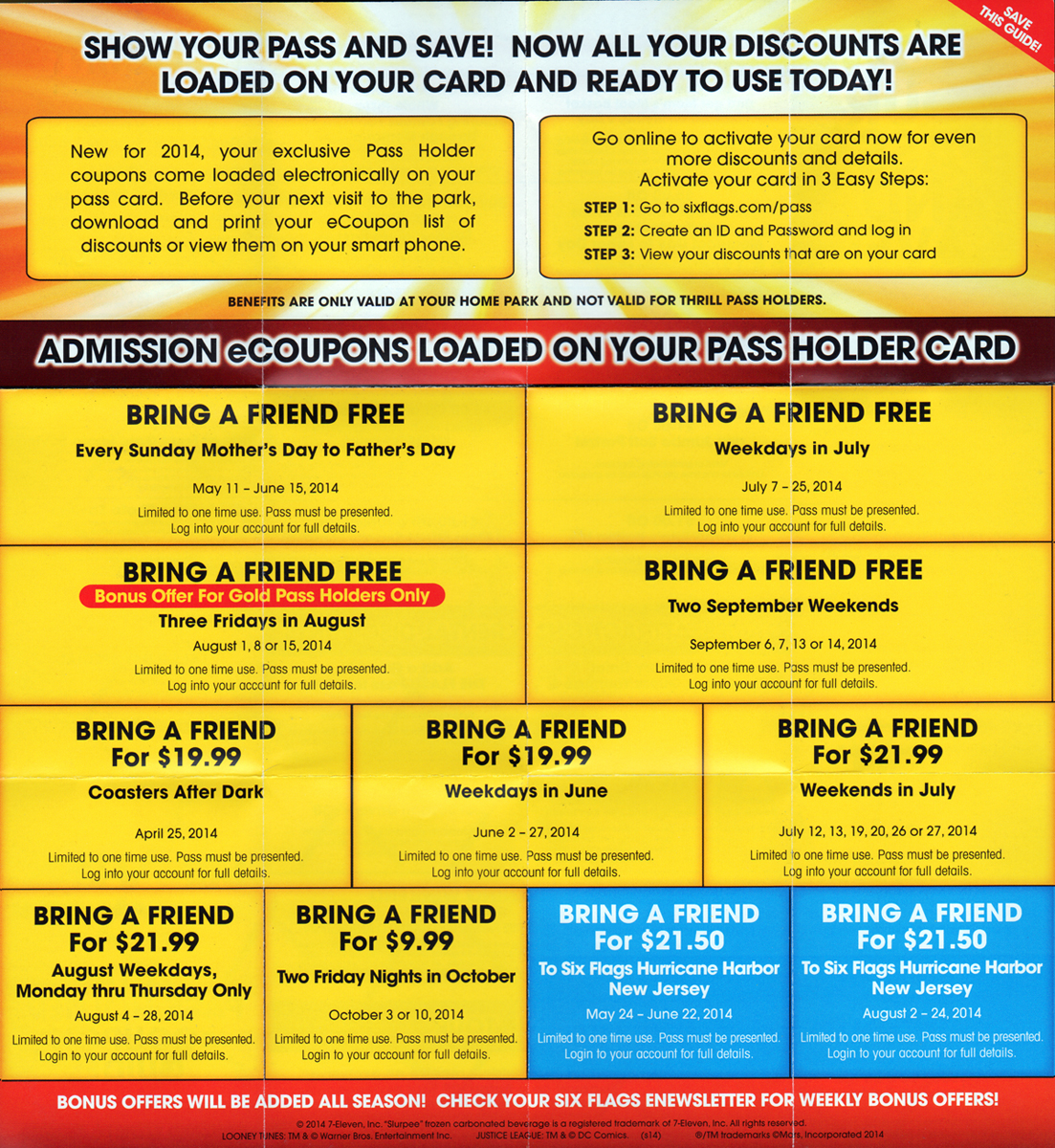 Six flags parking discount coupons
