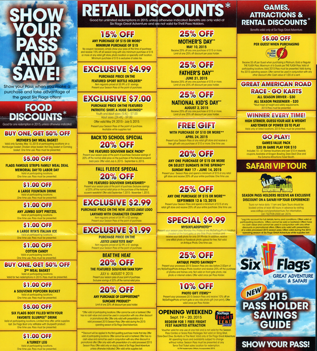 Today's top Six Flags Coupons: Great Adventure Only - Tickets Starting at $ See 40 Six Flags Coupons and Promo Code for November