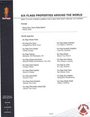 2004 Six Flags Properties Around the World