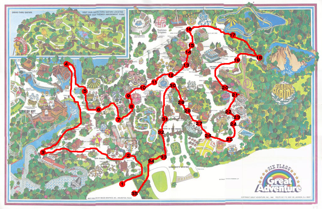 1982 Winter Tour of Great Adventure on six flags nj map, magic springs and crystal falls map, dorney park map, washington street mall map, kingda ka map, mt. olympus water & theme park map, kiddieland map, kennywood map, holiday world santa claus indiana map, the gallery at market east map, penn hills resort map, knott's berry farm map, magic kingdom map, 2014 six flags magic mountain map, great america map, cedar point map, thorpe park map, wyandot lake map, big e fair map, 2014 six flags over georgia map,