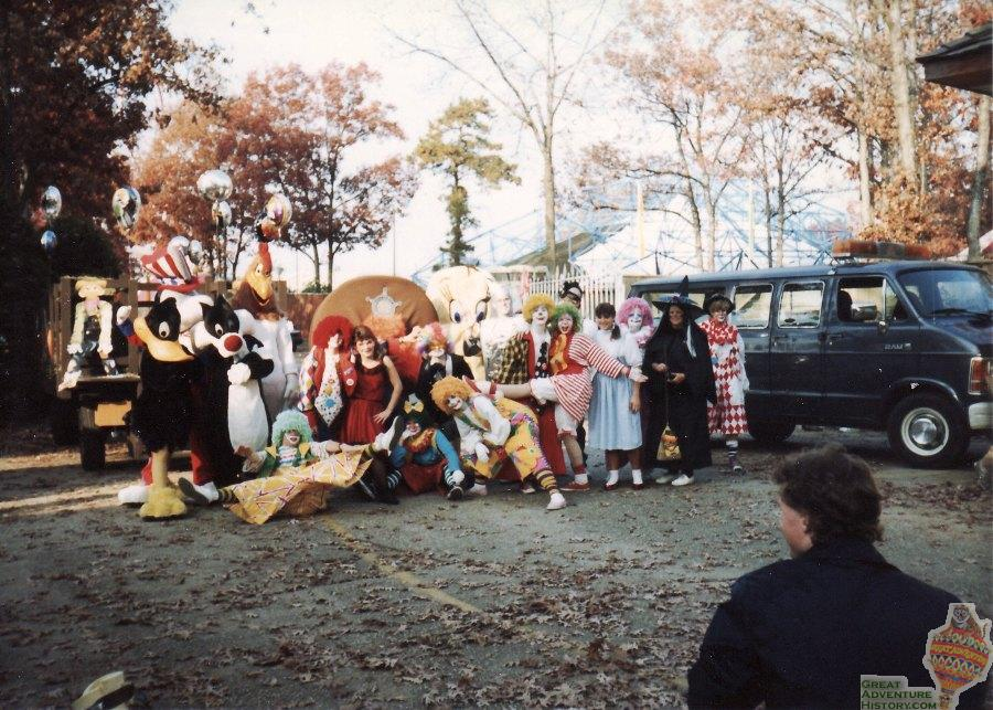 Getting ready for the Halloween Parade, 1990