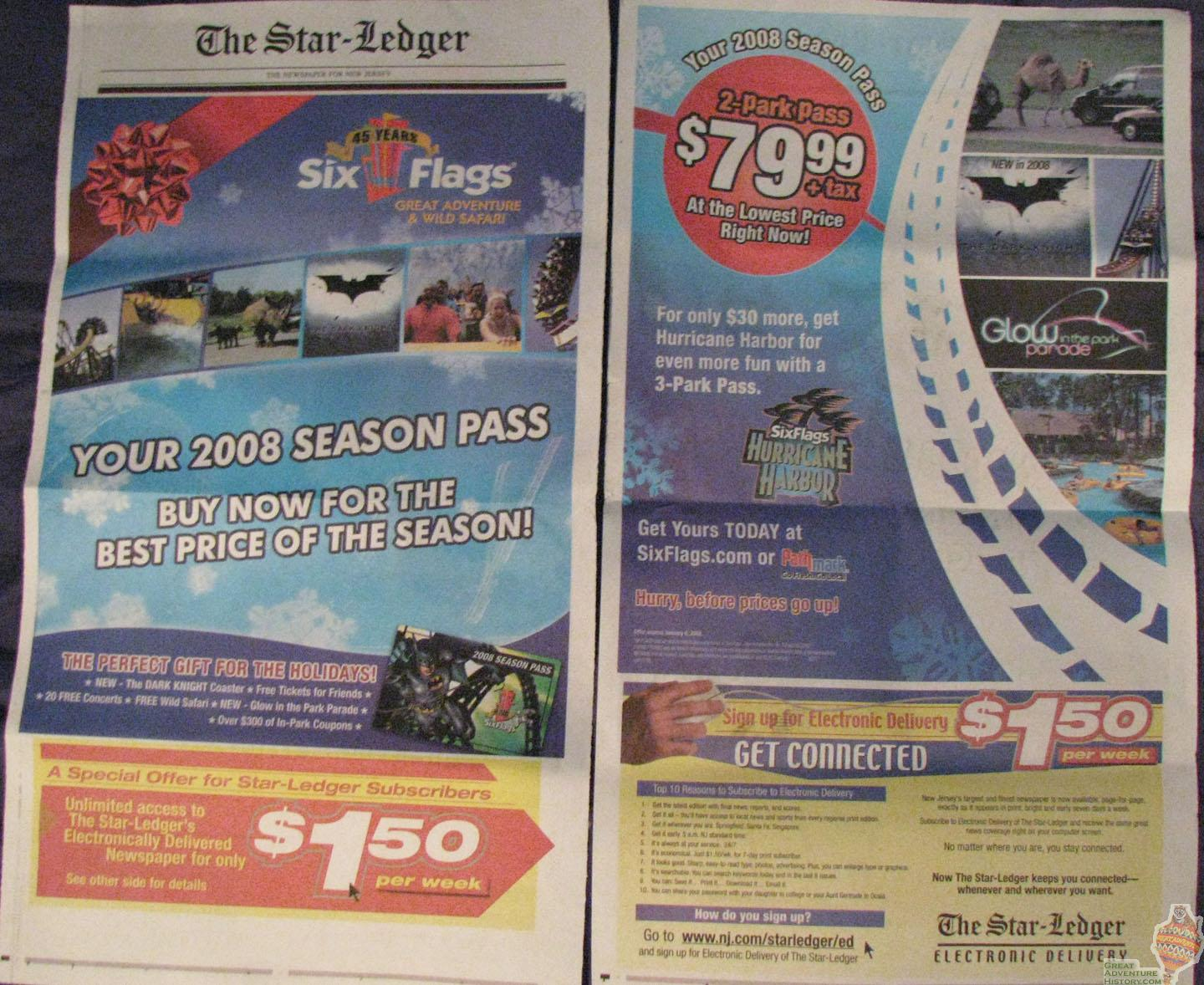 Star Ledger Ad - Dec 12, 2007