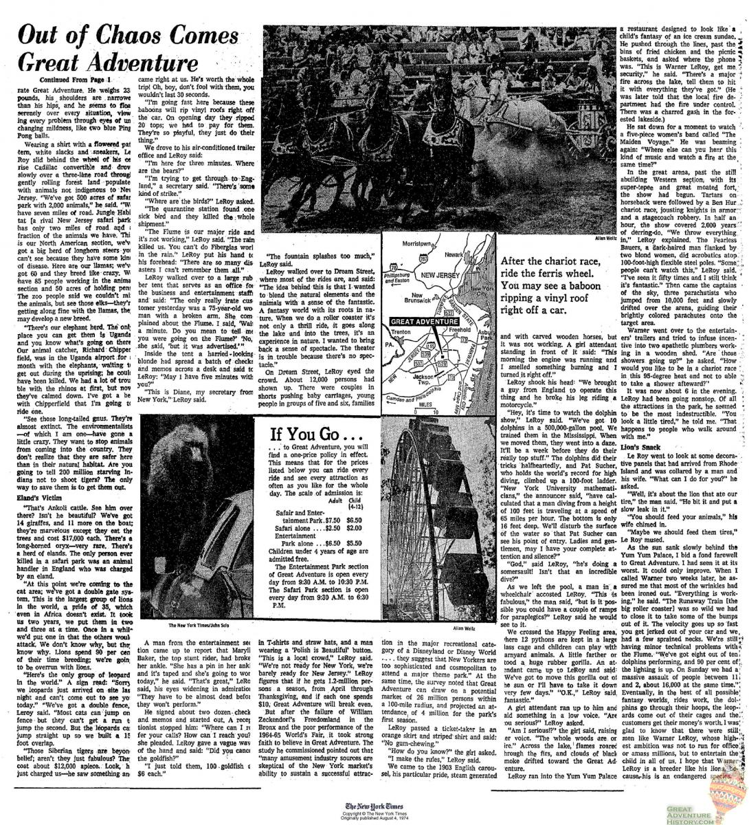Out of Chaos Pg2 - NY Times Aug 4, 1974