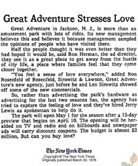 Great Adventure Stresses Love - March 30, 1976