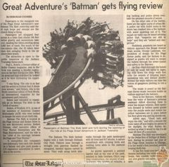 Great Adventure's Batman Gets Flying Review