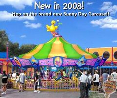Sunny Day Carousel-- Sesame Place