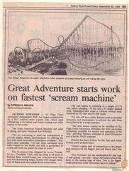 GA Starts Work on Fastest Scream Machine