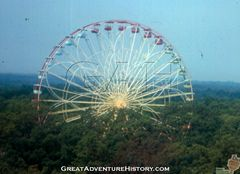 Giant Wheel over the treetops 1975
