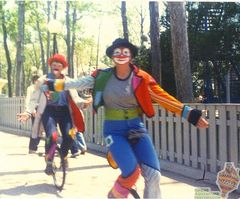 1980 Clowns on Unicycles (Near Enchanted Bandstand)