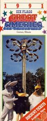 1991 SF Great America Pamphlet Cover