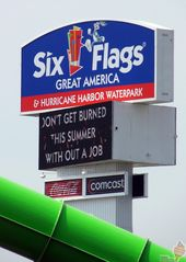 Six Flags Great America Highway Sign