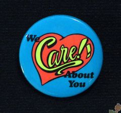 AVAILABLE: 1985 We Care Button