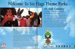 1994 Six Flags Overview Guide