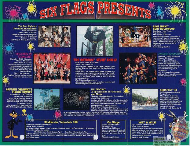Great Adventure Entertainment Schedules