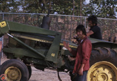 Butch on Tractor