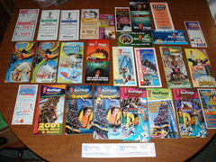 AVAILABLE: Large group of Great Adventure, Safari, and Hurricane Harbor brochures