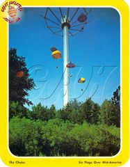 Postcard of Parachuter's Perch at Six Flags Over Mid America