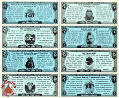 1976 Character Coupons
