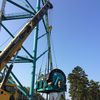 January   Adding supports To Kingda Ka; unloading The winch that will lift gondolas To Top