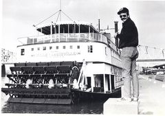 Supervisor Hank Gibbs observes the BELLE OF LOUISVILLE- 1983
