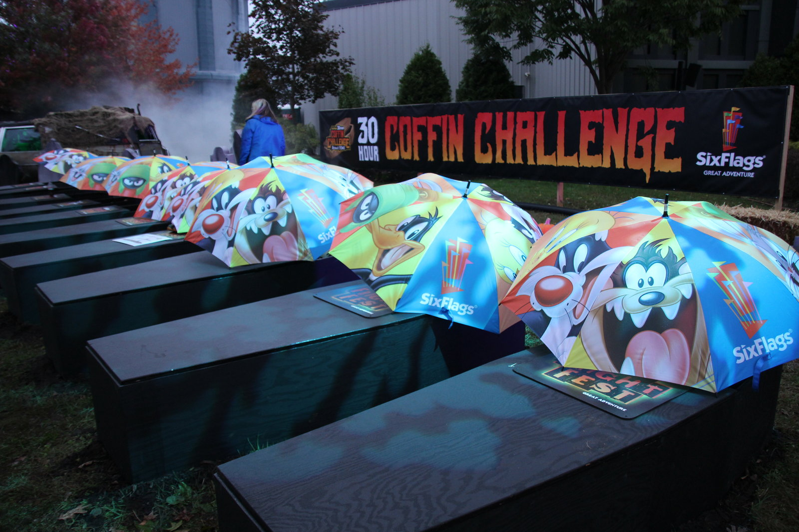 Coffin Challenge - Umbrellas over Coffins.JPG