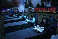 Coffin Challenge - Contestants Eat Dinner.JPG