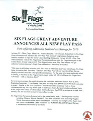 2009 SFGA Announces All New Play Pass