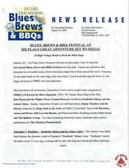 2000 Blues, Brews & BBQ's Festival at SFGA to Sizzle