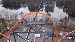 2021 Final Piece of Track Set on Jersey Devil Coaster