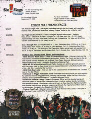 2009 Fright Fest Freaky Facts