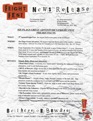2000 SFGA's Fright Fest Freaky Facts