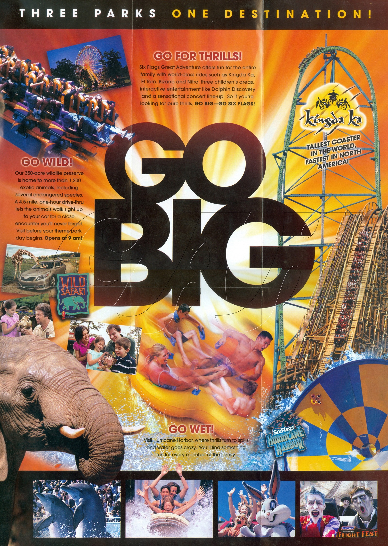 Six flags great adventure 2011 general brochure Go to the website
