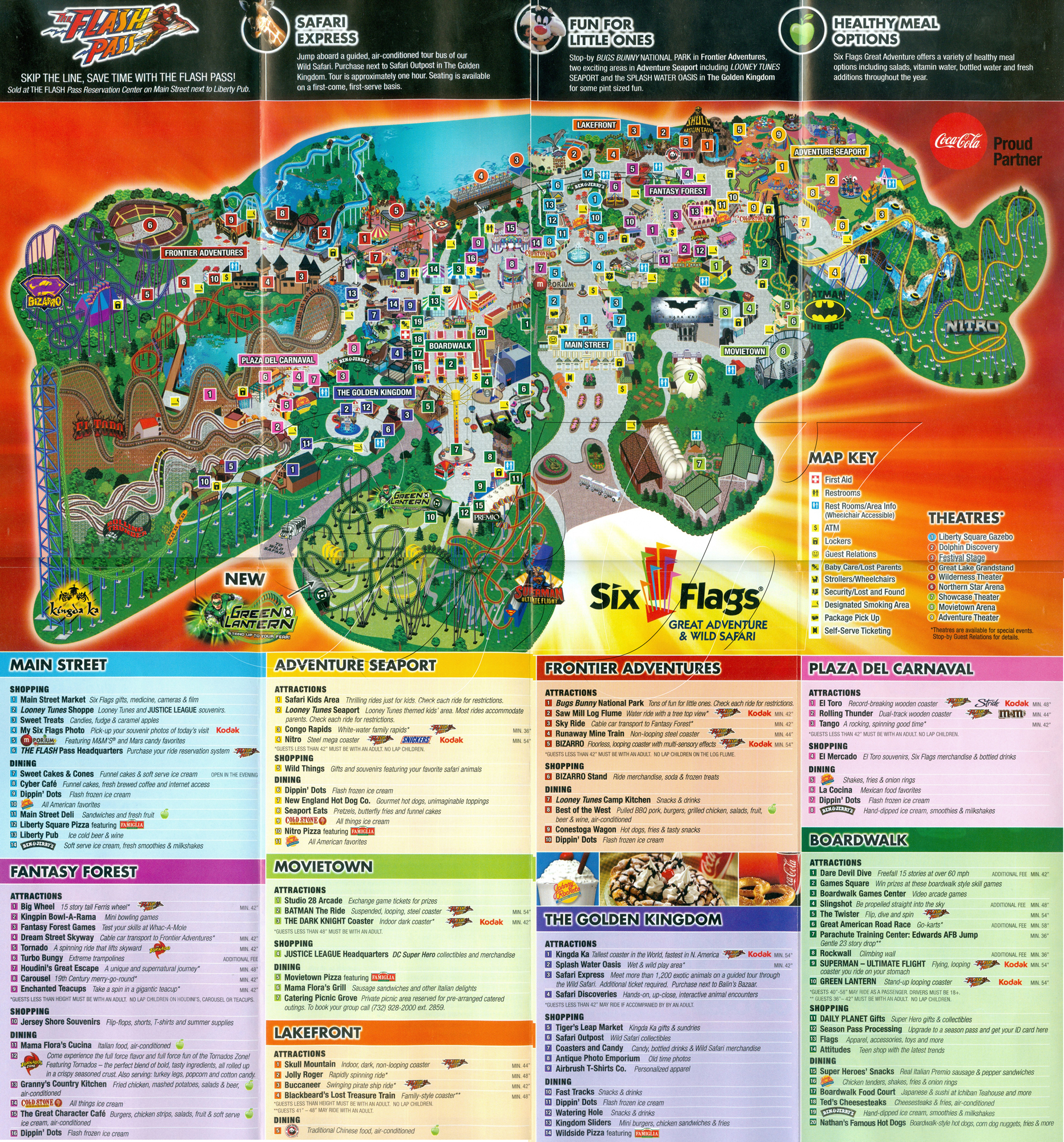 Six Flags Great Adventure  20park 20map 2005 20copy Ga2011themehtm 6 Flags Map 6 Flags Map