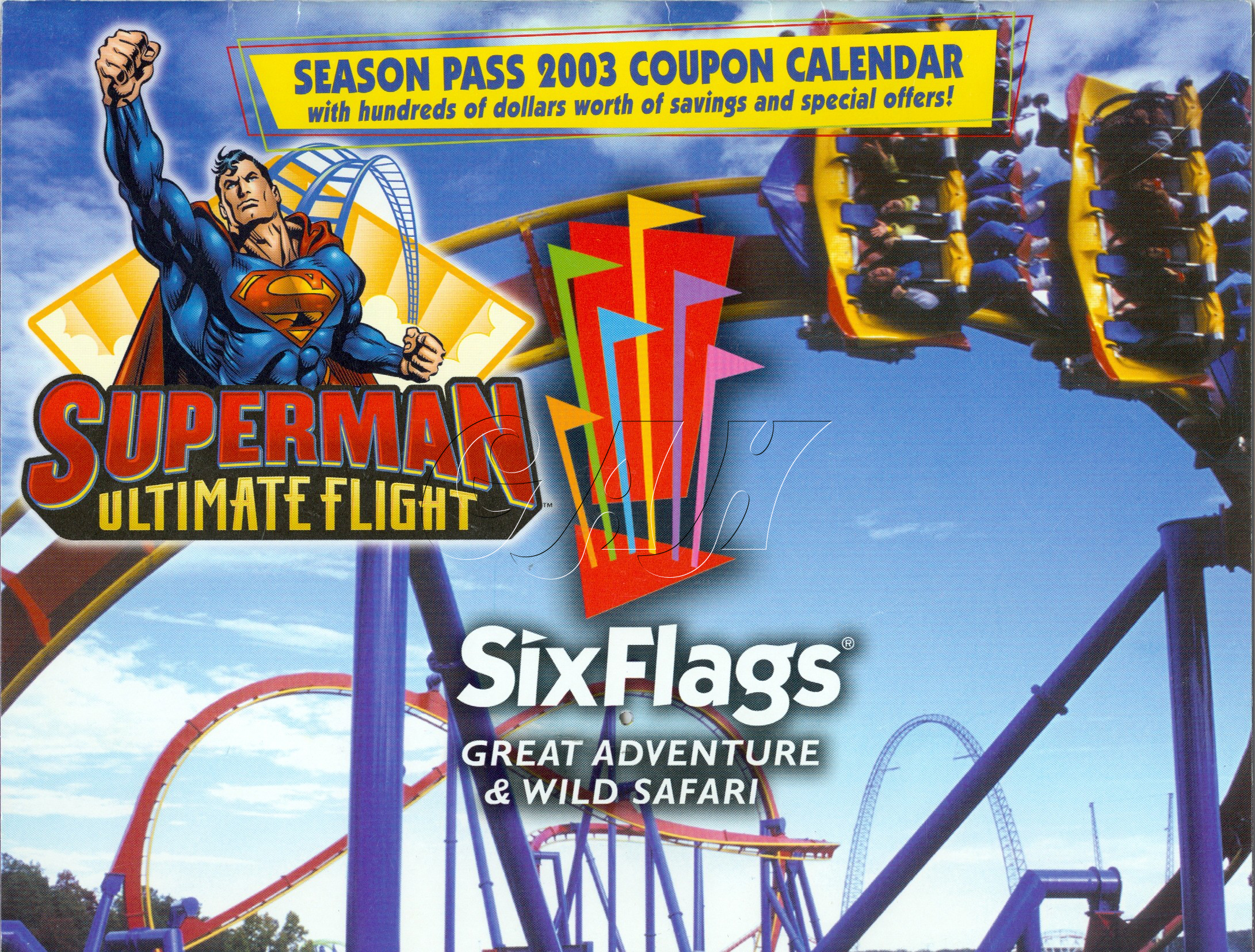 Six Flags Great Adventure Coupons, Savings and Theme Park Description for Great Adventure boasts its impressive collection of awesome rides: the wonderful hypercoaster, Nitro, the flying coaster, Superman Ultimate Flight, and the floorless coaster, Bizarro.